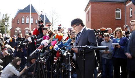 Alemanya va alliberar Puigdemont dies després de l'arrest, el 2018.