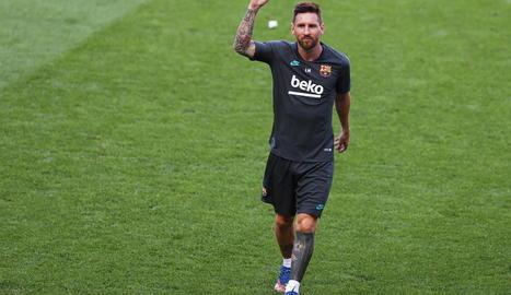Leo Messi, en foto d'arxiu, té previst posar-se a les ordres de Koeman demà dilluns.