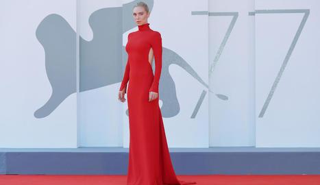 L'actriu anglesa Vanessa Kirby, durant la presentació de la pel·lícula 'Pieces of a Woman'.