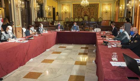La reunió de la Junta Local de Seguretat de Lleida.