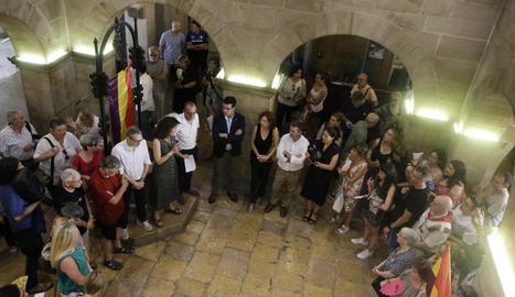 Acte d'homenatge als lleidatans a camps nazis, entre ells Josep Pach Roselló.