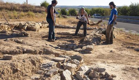 Vista de les excavacions a la vila romana de Verdú.