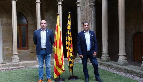 L'alcalde de Balaguer i el president de la Noguera.