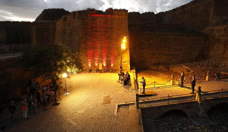 Una imatge de l'acte commemoratiu de la Diada celebrat al Turó de la Seu Vella.