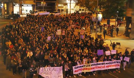 Imatge de la manifestació contra la violència masclista del 25 de novembre de l'any passat a Lleida.