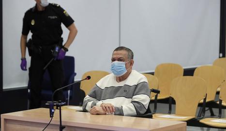 L'exmilitar salvadorenc Inocente Montano durant el judici celebrat a l'Audiència Nacional.