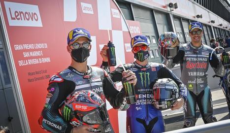 Els pilots de Yamaha van copar els entrenaments de MotoGP.