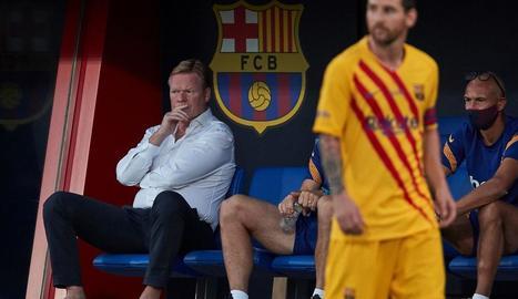 Ronald Koeman va posar Messi de titular en el seu primer partit al capdavant del Barça.