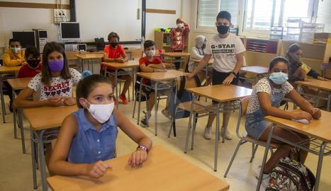Imágenes del inicio del curso escolar en Lleida