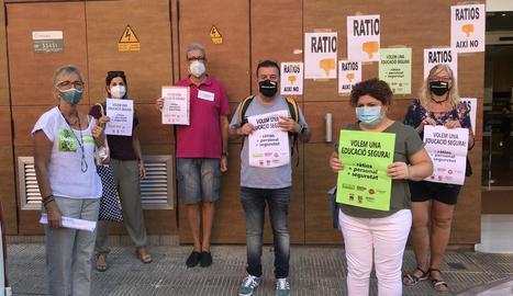 Representants de la junta de personal docent de Lleida.