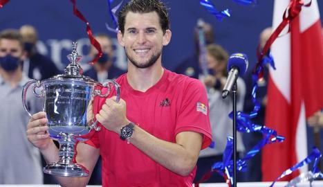 L'austríac, feliç al conquerir el seu primer Grand Slam.