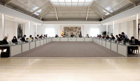 Una vista del consell de ministres d'aquest dimarts.