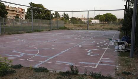 Estat en el qual es troba la pista esportiva de la Bordeta.
