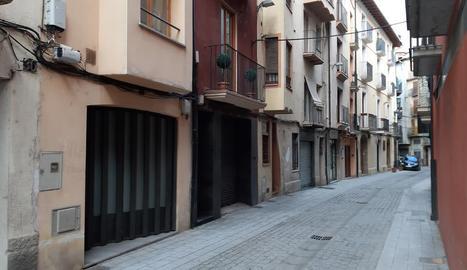 Vista del carrer Capdevila de la Seu, on va tenir lloc l'agressió.