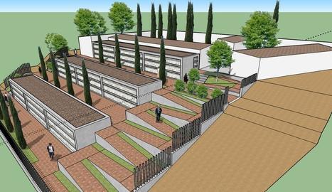 Imatge virtual de com quedarà el nou cementiri.