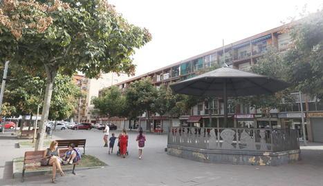 La plaça Cappont, ahir a la tarda.