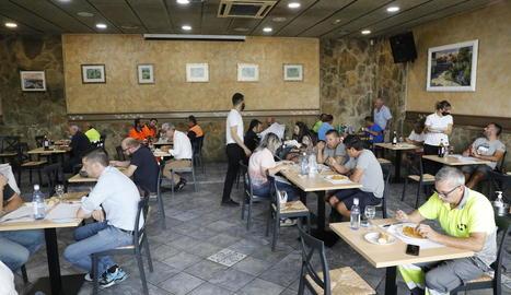 Un restaurant de Torrefarrera, que va recuperar dimecres els aforaments a l'interior.