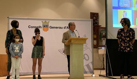 Intervenció del síndic d'Aran, Paco Boya, en l'acte d'ahir