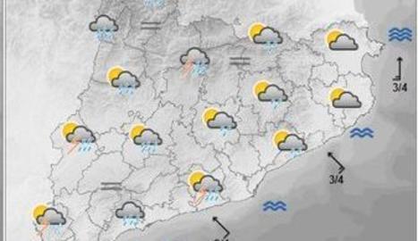 Alerta per pluges intenses, especialment al Pirineu