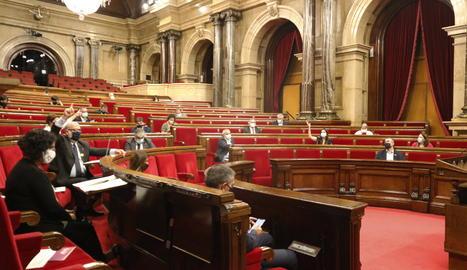 L'hemicicle del Parlament aquest dimecres.