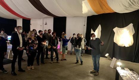 Inauguració ahir a Vilaller de l'exposició 'Dones', primera activitat del nou festival Errant.
