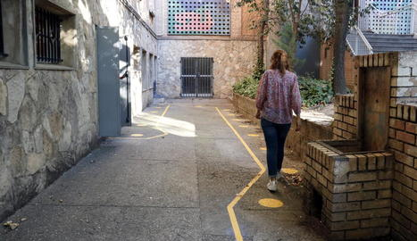 Foto del pati del Joan Oró, que va ser el primer centre afectat per un cas positiu a Lleida.