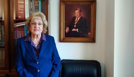 Teresa Ribalta, viuda del cardiòleg lleidatà Roc Pifarré.