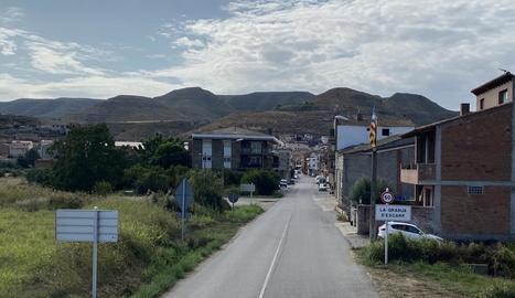 L'entrada a la Granja d'Escarp, que es renovarà totalment.