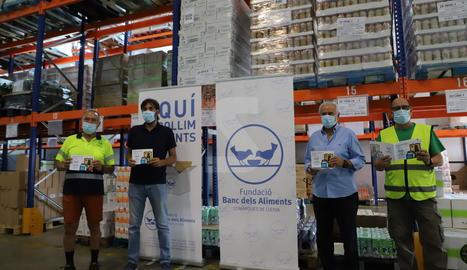 La roda de premsa de balanç de l'activitat del Banc dels Aliments de Lleida.