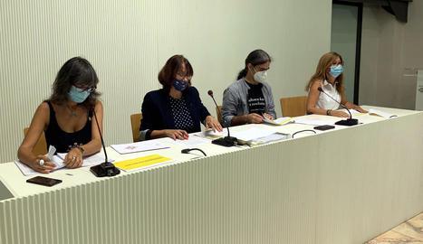 Els tinents d'alcalde Castro, Pifarré, Talamonte i Campos.