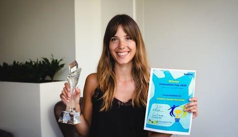 La científica lleidatana Cristina Jauset, amb el premi.