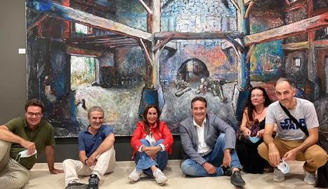 El fill de Chillida inaugura el parc d'escultura Alma d'Almacelles