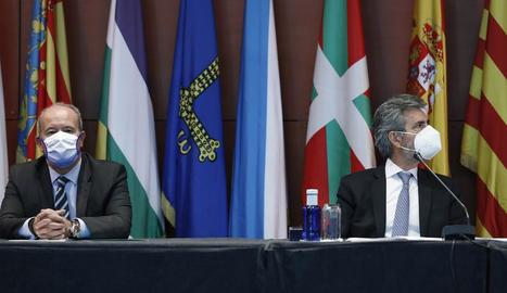 El ministre Campo i el president del CGPJ, Carlos Lesmes, no van donar mostres de cap sintonia.