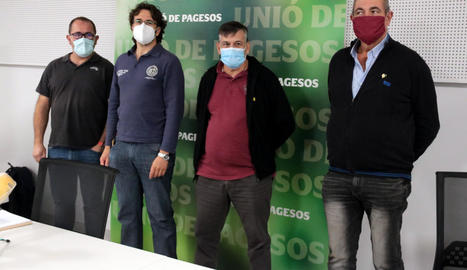 Jordi Armengol, Joan Sellart, Joan Caball i Jaume Pedrós.