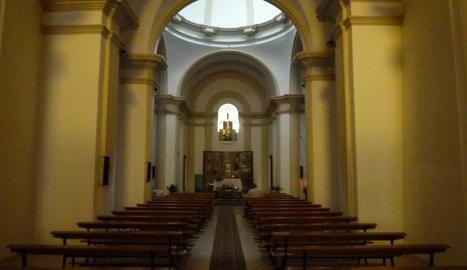 Imatge de l'interior del temple de la Mare de Déu del Miracle.