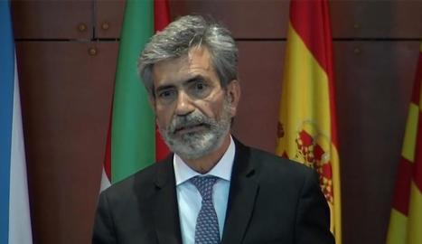 El president del CGPJ, Carlos Lesmes, i el líder del PP, Pablo Casado.