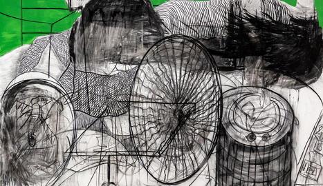 Una de les teles de l'exposició 'Octubre', de Gregorio Iglesias.