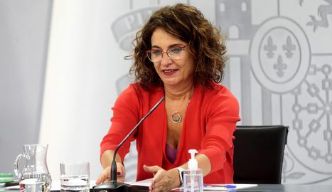 La portaveu del govern espanyol, María Jesús Montero.