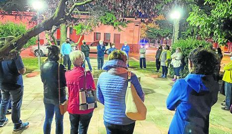 Concentració de suport a Torra a Castelldans, dimarts.