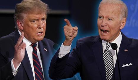 Trump i Biden durant el debat.