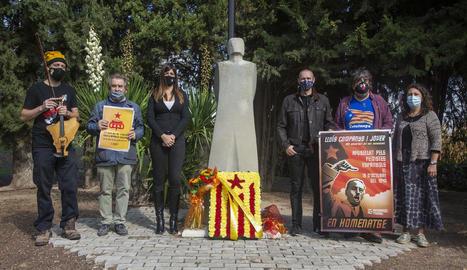 Foto de l'homenatge d'Independentistes d'Esquerres a Companys.