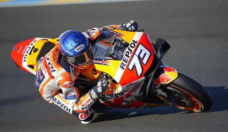 Primer podi d'Àlex Márquez en MotoGP