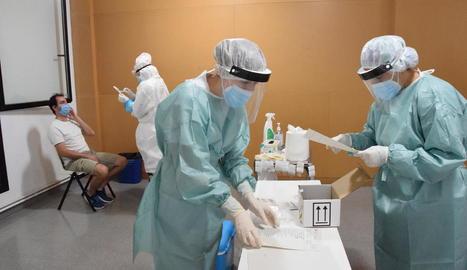 A l'estiu, a la Seu d'Urgell es van practicar PCR massives per detectar positius de Covid-19