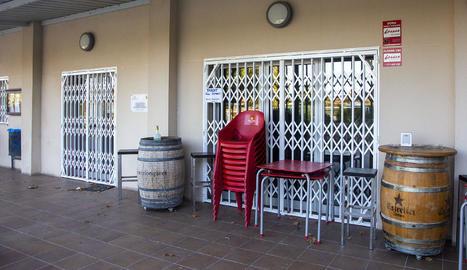 Imatge del bar de les Ventoses, tancat des de divendres.