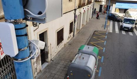La càmera de vigilància del carrer Arbeca de Mollerussa.