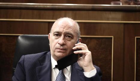 Imatge d'arxiu de Jorge Fernández Díaz durant la seua etapa com a ministre de l'Interior.