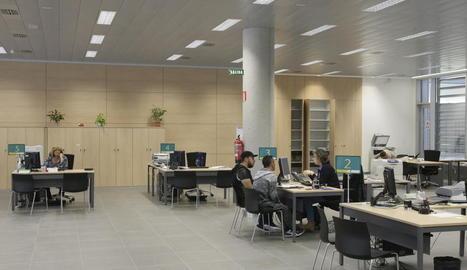 La seu de l'Institut Nacional de la Seguretat Social a Lleida.