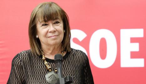 La presidenta del PSOE i vicepresidenta del Senat, Cristina Narbona.