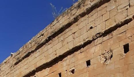 Imatge d'una visita guiada ahir al patrimoni romànic de la Baronia de Rialb.