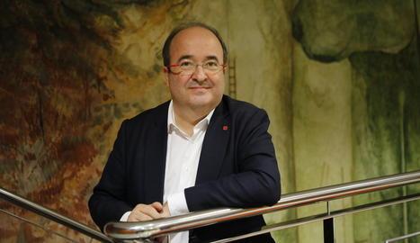 Miquel Iceta, a les instal·lacions de SEGRE
